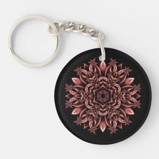 Metal mask daisy keychain