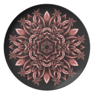Metal mask daisy melamine plate