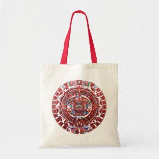 Metal Mayan Sunstone Calender Canvas Bags