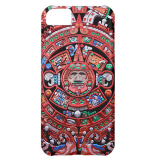 Metal Mayan Sunstone Calender Cover For iPhone 5C