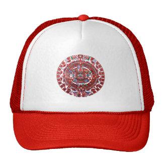 Metal Mayan Sunstone Calender Trucker Hat