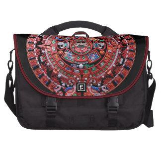 Metal Mayan Sunstone Calender Laptop Computer Bag