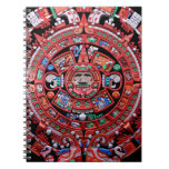 Metal Mayan Sunstone Calender Spiral Notebook