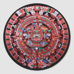 Metal Mayan Sunstone Calender Stickers