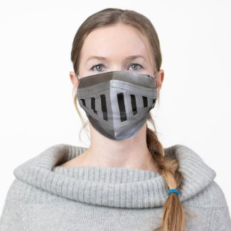 Metal Medieval Knight Face Plate Helmet HEMA Cloth Face Mask