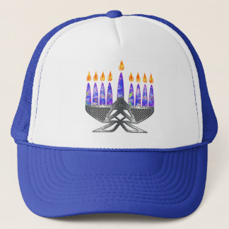 Metal Menorah Hats