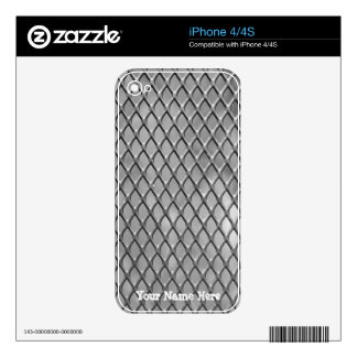 Metal Mesh Cell Phone Skin Skins For iPhone 4S