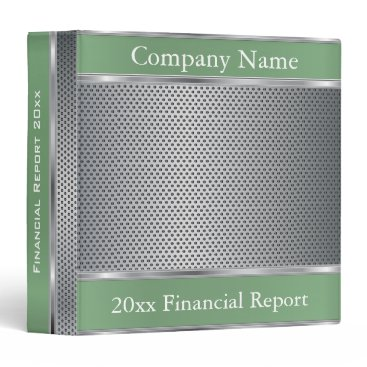 Professional Business Metal Mesh Company Style | DIY Text |  Mint Green Binder