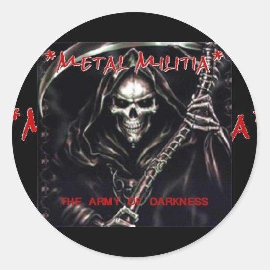 Metal Militia Logo, Metal Militia Classic Round Sticker