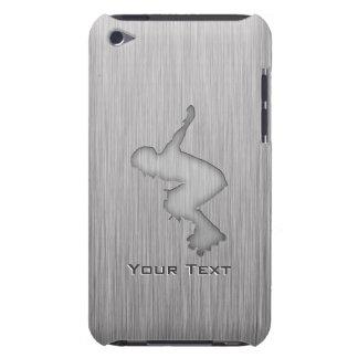 Metal-mirada cepillada Rollerblading iPod Touch Coberturas