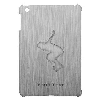 Metal-mirada cepillada Rollerblading iPad Mini Cárcasa