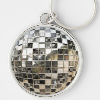 Metal Mirror Ball Keychain