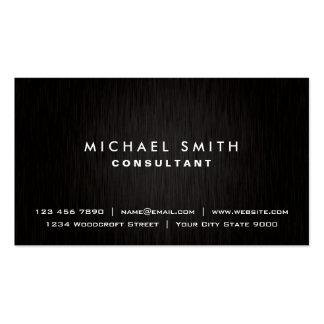 Metal moderno negro llano profesional elegante tarjeta de visita