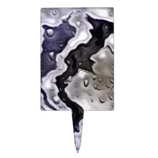 metal mojado, azul figura para tarta