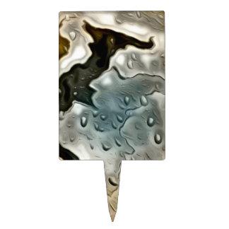 metal mojado, de oro palillos de tarta