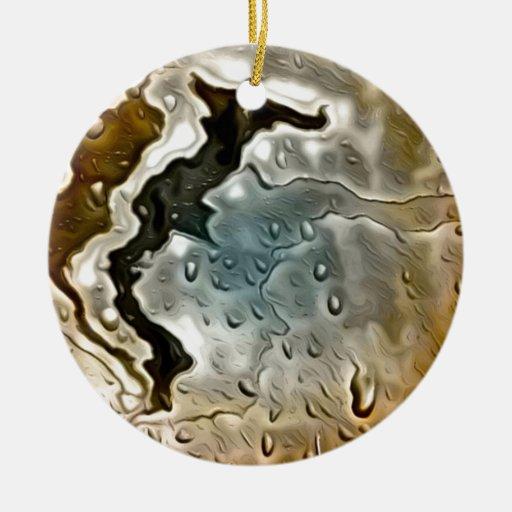 metal mojado de oro adorno redondo de cerámica