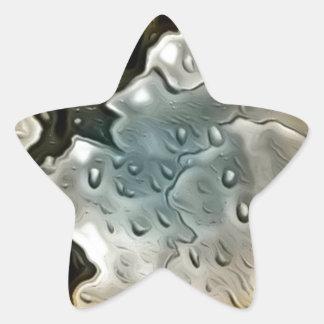 metal mojado de oro pegatina en forma de estrella