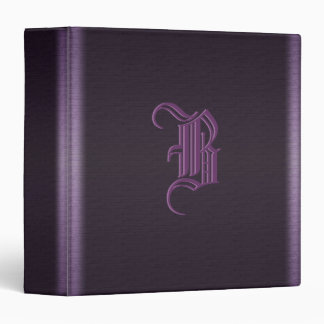 Metal monogram 3 ring binder