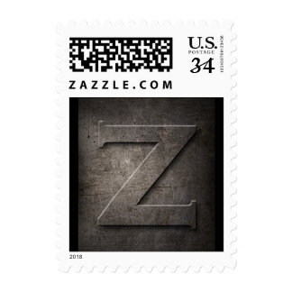 Metal Monogram Z Postage