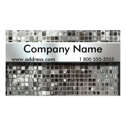 Metal Mosaic And Nameplate Business Cards Business Cards