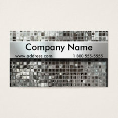 Metal Mosaic And Nameplate Business Cards at Zazzle