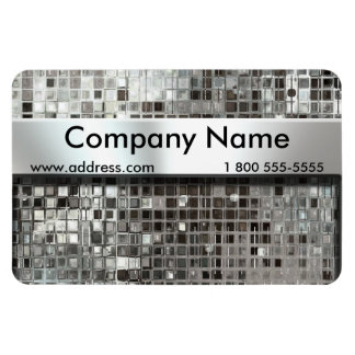 Metal Mosaic And Nameplate Flexible Magnet