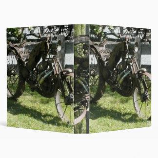 Metal motorcycle art Avery Binder