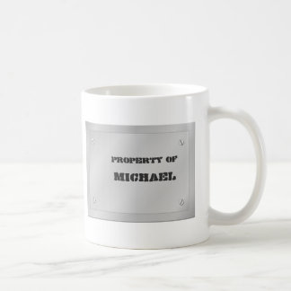 Metal Name Plate Coffee Mug
