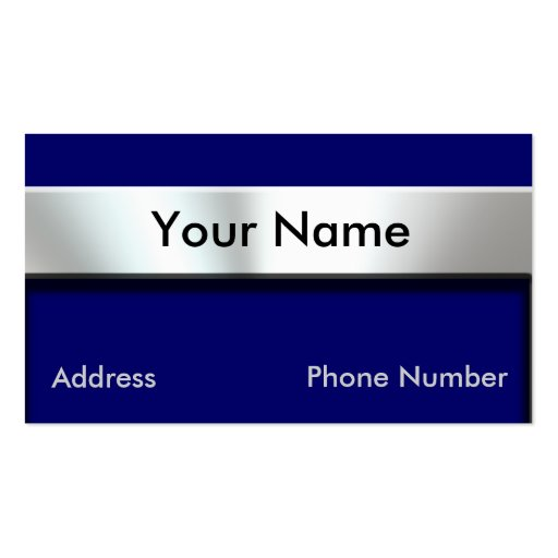 Metal Nameplate Business Cards