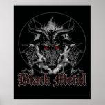 Metal negro Baphomet Poster