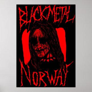 Metal negro Bloody Póster