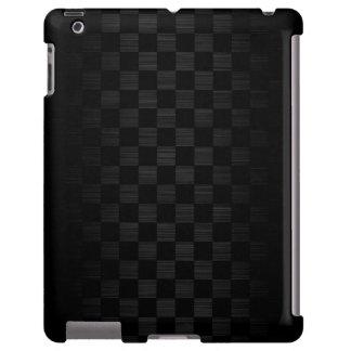 metal negro con el modelo del tablero de damas funda para iPad