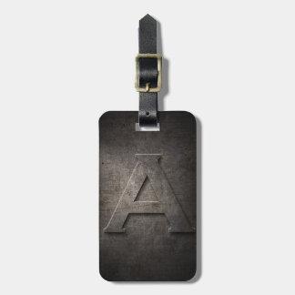 Metal negro de bronce una etiqueta del equipaje de etiquetas para equipaje