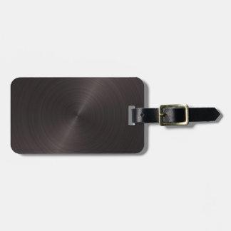 Metal negro etiquetas maletas