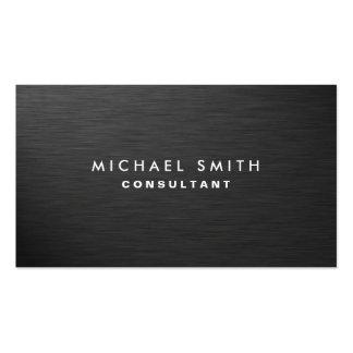 Metal negro llano moderno elegante profesional tarjetas de visita