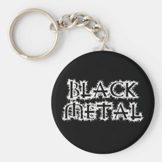 Metal negro llavero redondo tipo pin