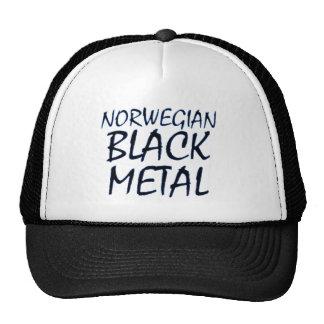 Metal negro noruego verdadero gorra