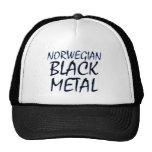 Metal negro noruego verdadero gorros bordados