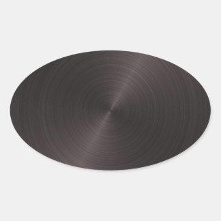 Metal negro pegatina ovalada