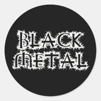 Metal negro pegatina redonda