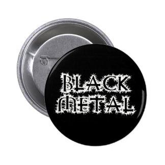 Metal negro pin redondo de 2 pulgadas
