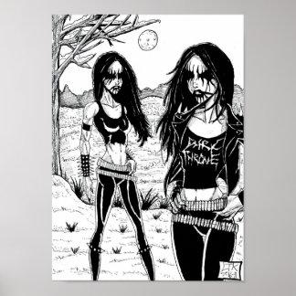 Metal negro póster