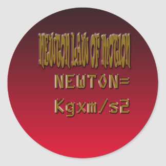 Metal Newton Law Of Motion Classic Round Sticker
