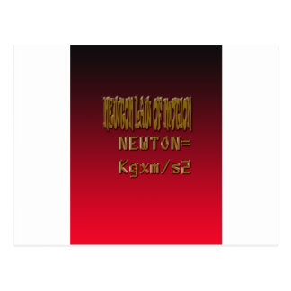 Metal Newton Law Of Motion Postcard