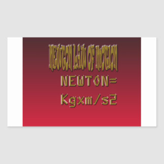 Metal Newton Law Of Motion Rectangular Sticker