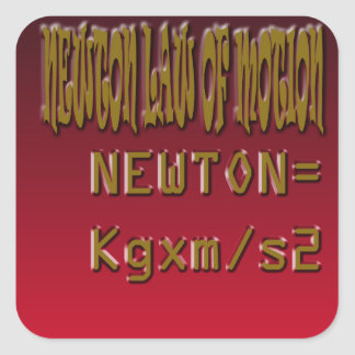 Metal Newton Law Of Motion Square Sticker