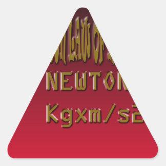 Metal Newton Law Of Motion Triangle Sticker