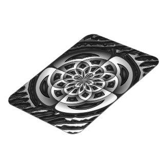 Metal object rectangular photo magnet