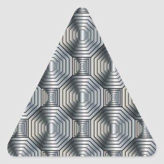 Metal Octagons Triangle Stickers