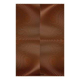 Metal on Copper Optical Illusion Wall Art Lge